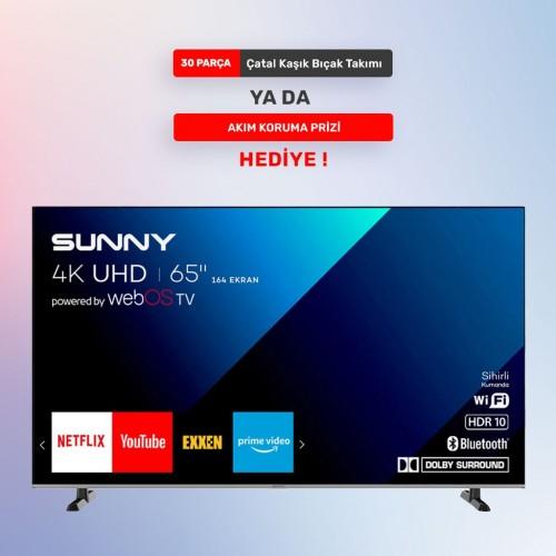 SUNNY 65'' FRAMELESS 4K WEBOS SMART TV 65FLDJ240